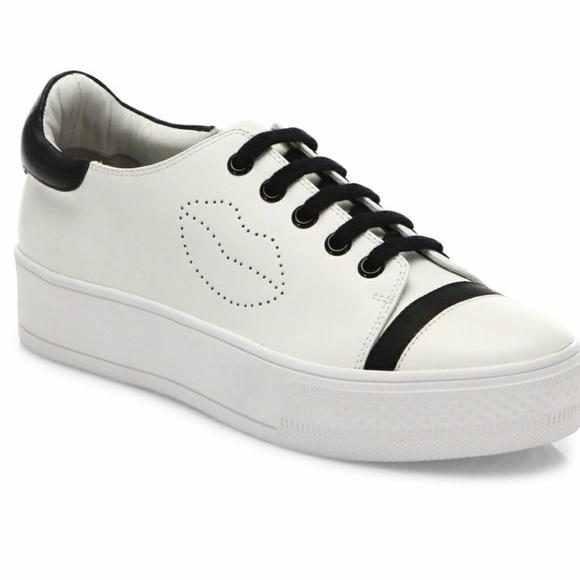 709ae8527f4 Alice + Olivia Shoes - Alice + Olivia Pax Leather platform sneakers 6.5